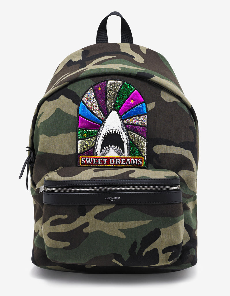Camouflage Print 'Sweet Dreams' Patch Backpack