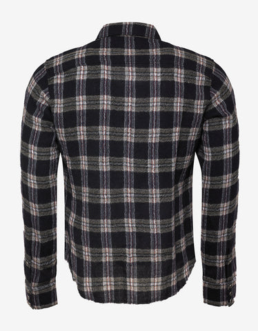 Saint Laurent Raw Edge Flannel Overshirt
