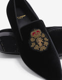 Devon 25 Black Velvet Loafers