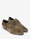 Devon 25 Leopard Print Velvet Derby Shoes