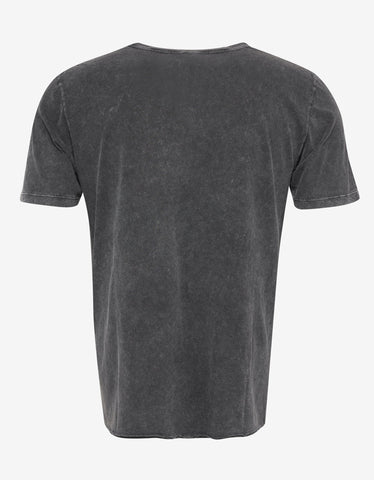 Saint Laurent Faded Grey Logo Print T-Shirt