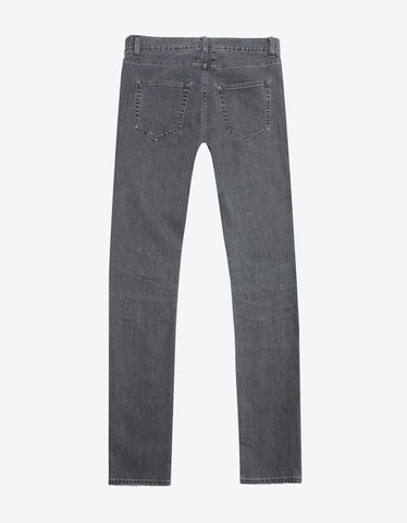 Saint Laurent Grey D01 Denim Skinny Jeans