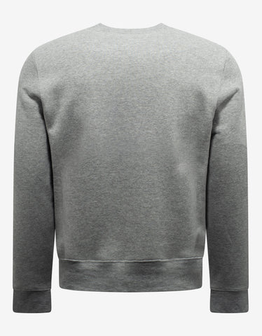 Saint Laurent Grey Marl Malibu Print Sweatshirt