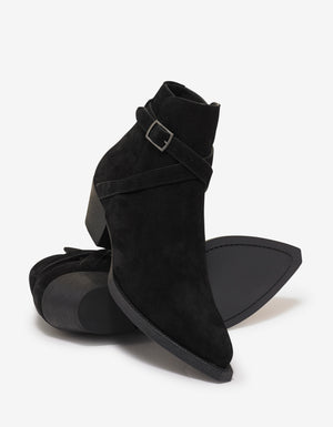 Lukas 40 Buckle Suede Leather Jodhpur Boots