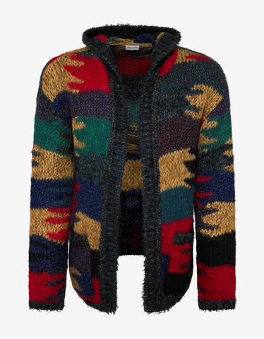 Saint Laurent Multicolour Camouflage Hooded Baja