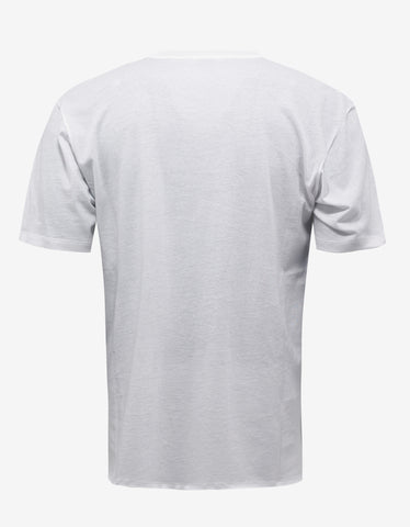 Saint Laurent Off-White Signature Print T-Shirt