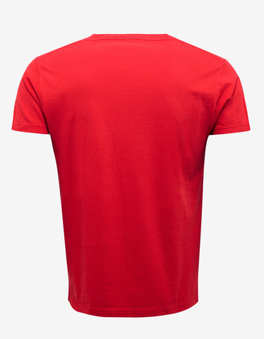 Saint Laurent Red Blood Luster Print T-Shirt