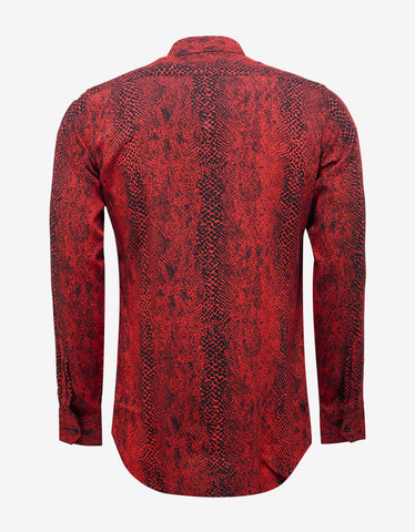 Saint Laurent Red Snake Print Shirt