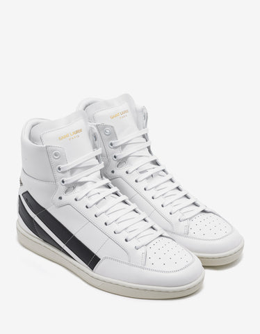 Saint Laurent SL/36H High Top Trainers with Black Studded Star
