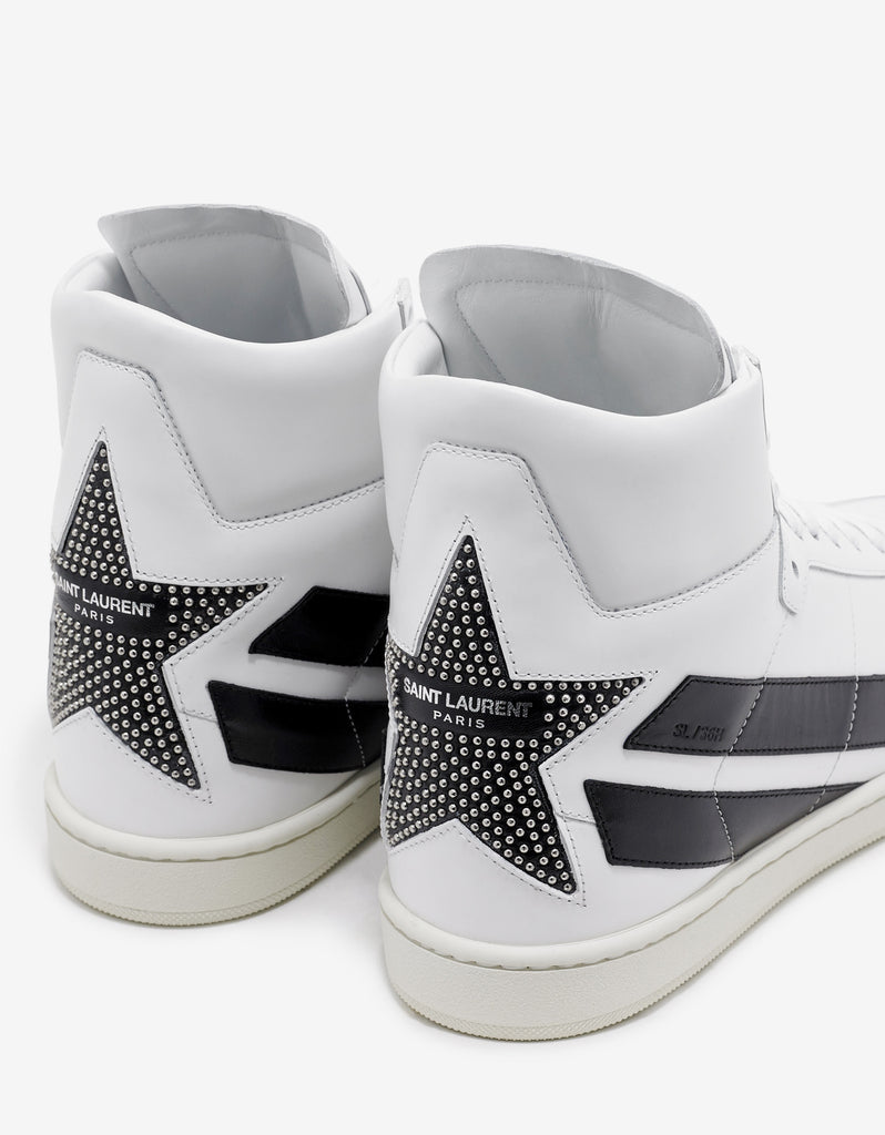 SL/36H High Top Trainers with Black Studded Star