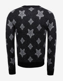 Grey Star Print Mohair Sweater