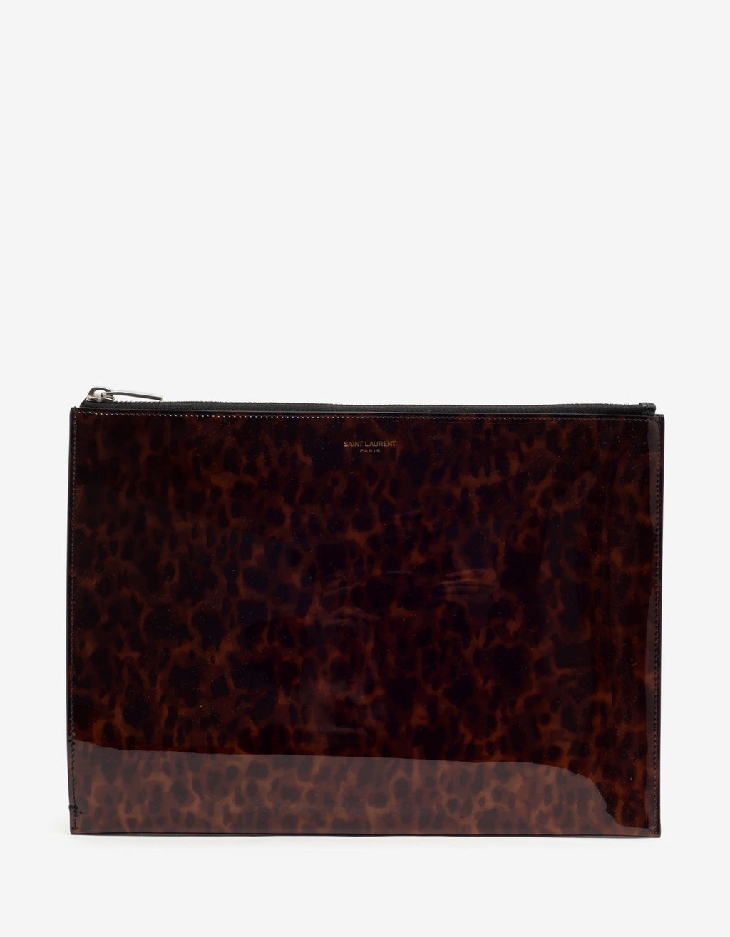 Tortoiseshell Print Patent Leather iPad Pouch