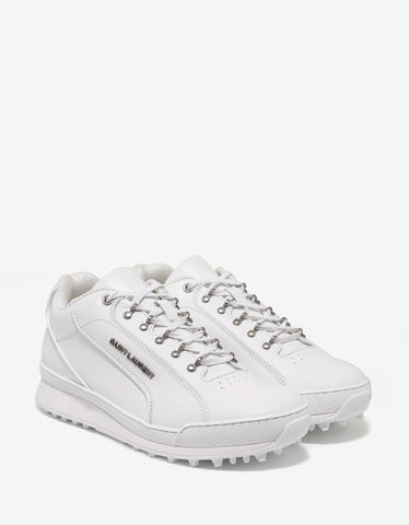 Saint Laurent White Leather Jump Trainers
