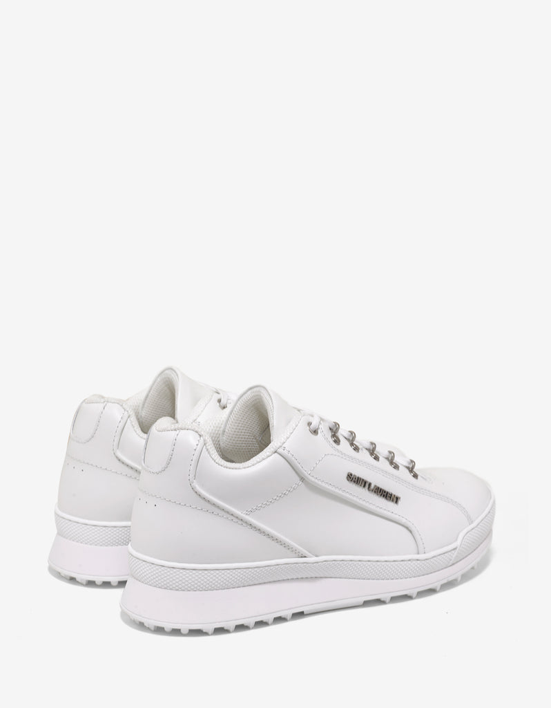 White Leather Jump Trainers