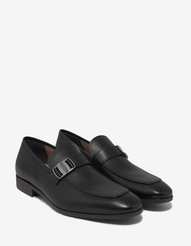 Salvatore Ferragamo Benson Midnight Blue Vara Buckle Loafers