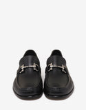 Fiordi Black Leather Loafers