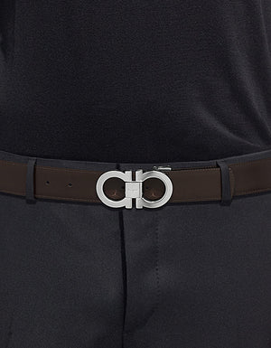 Gancini Buckle Reversible 2 Belt Box Set