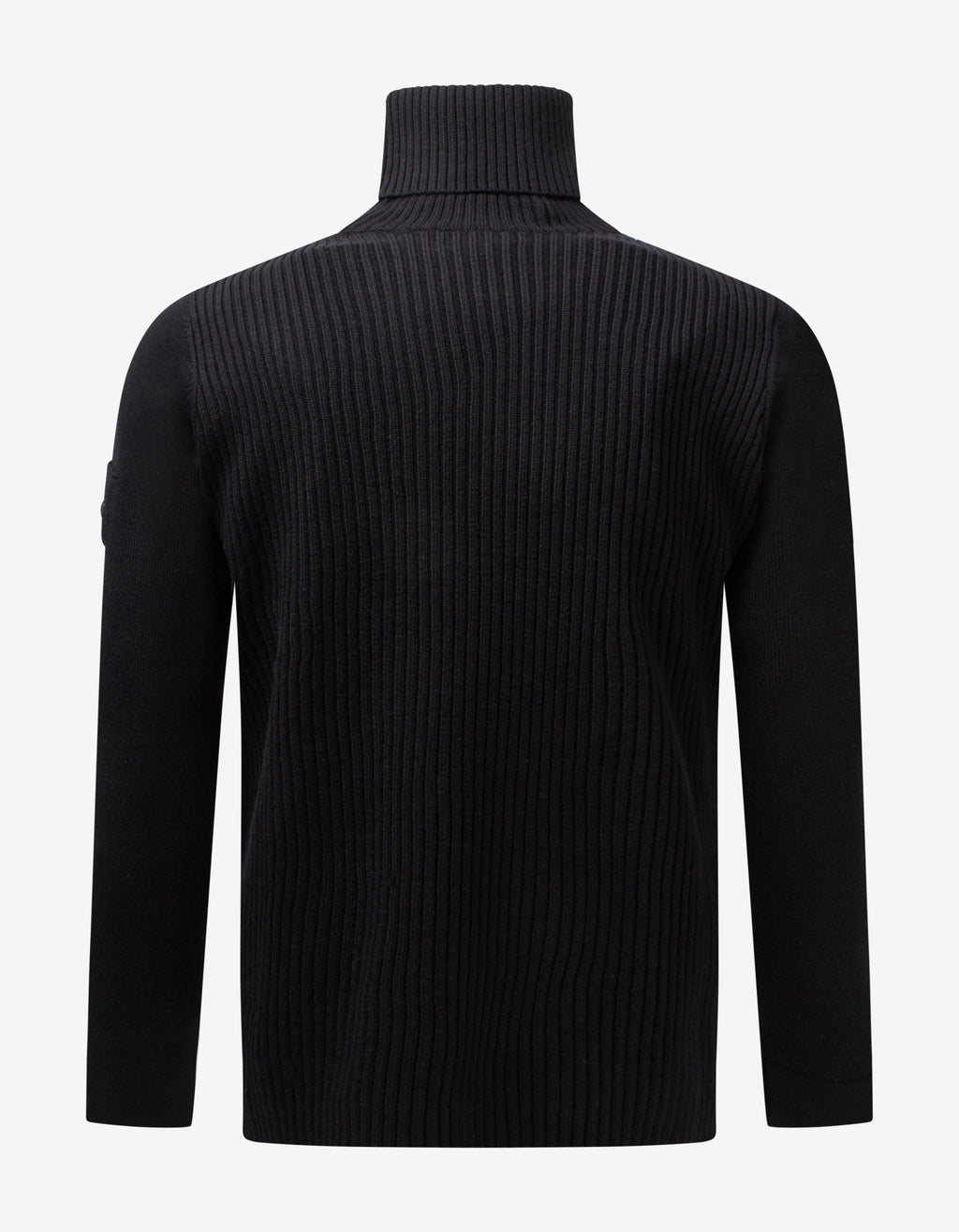 Black Ribbed Turtleneck Sweater