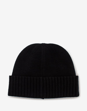 Black Wool Beanie Hat