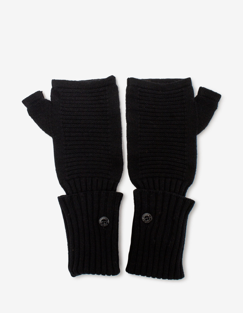 Black Wool Fingerless Gloves