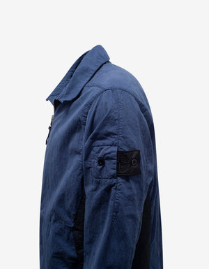 Blue Compact 50 Fili Zip Shirt Jacket
