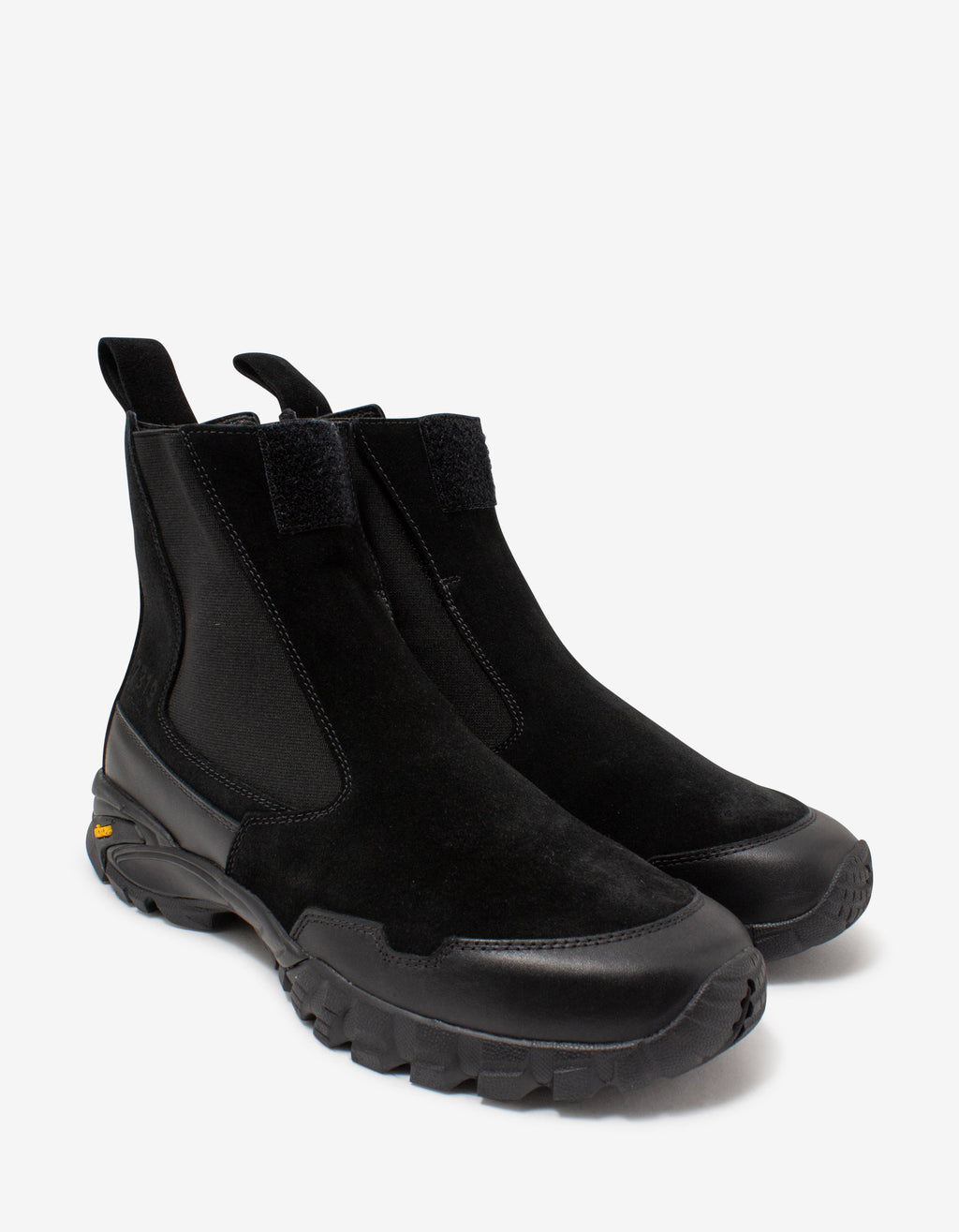 Black Suede & Leather Chelsea Boots