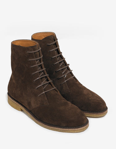 Saint Laurent Nevada 20MM Brown Suede Boots