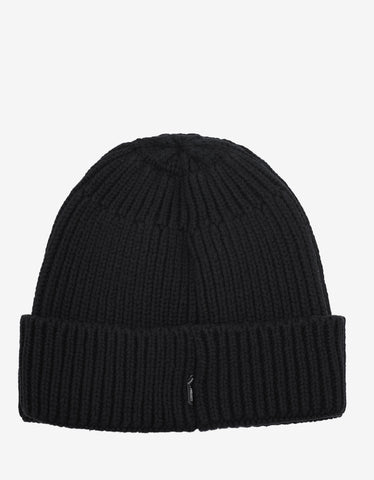Stone Island Shadow Project Black Beanie Hat
