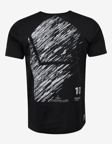 Stone Island Shadow Project Black 10th Anniversary Print T-Shirt