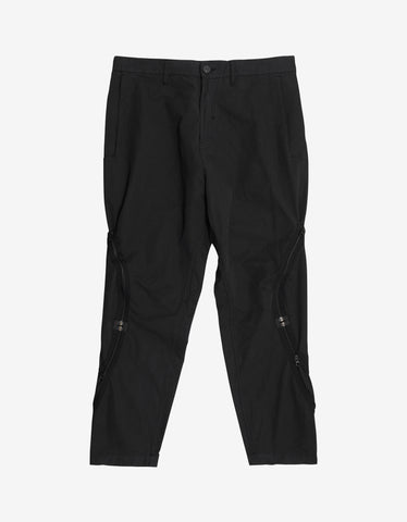 Stone Island Shadow Project Black Adjustment Zip Cargo Pants