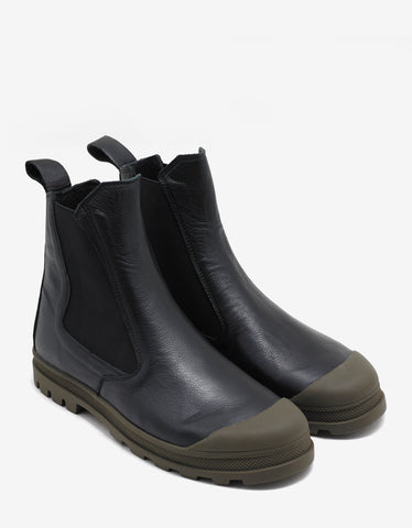 Stone Island Shadow Project Black Chelsea Boots