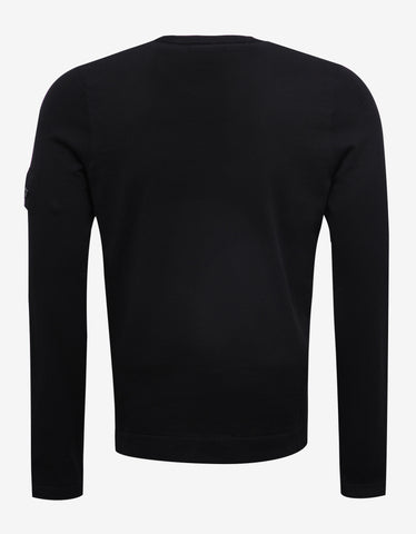 Stone Island Shadow Project Black Cotton Sweater