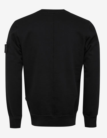 Stone Island Shadow Project Black Multi-Pocket Sweatshirt
