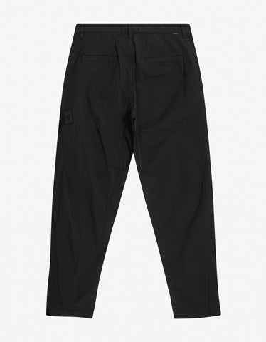 Stone Island Shadow Project Black Relaxed Fit Trousers