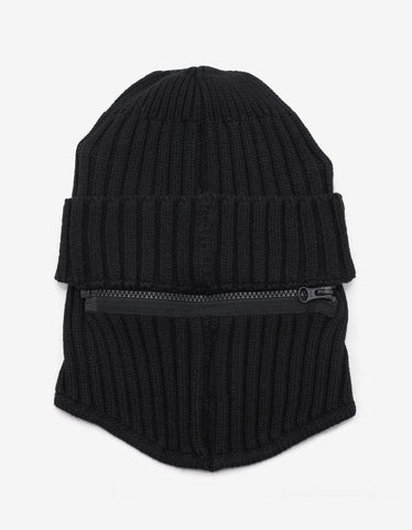 Black Ribbed Balaclava
