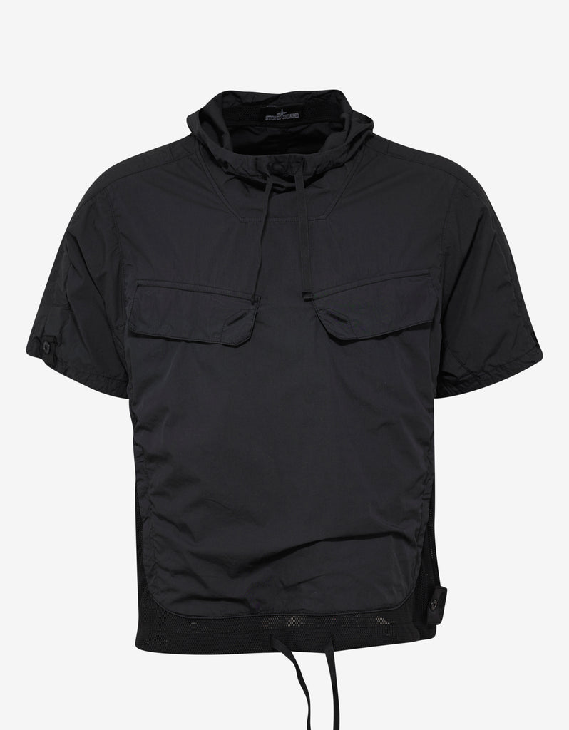 Black Short Sleeve Anorak