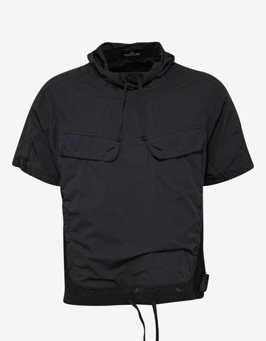 Stone Island Shadow Project Black Short Sleeve Anorak