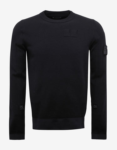 Black Wool Blend Sweater