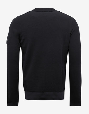 Stone Island Shadow Project Black Wool Blend Sweater