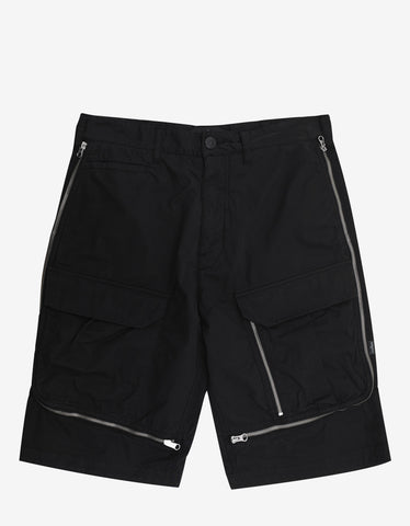 Stone Island Shadow Project Black Vented Cargo Shorts
