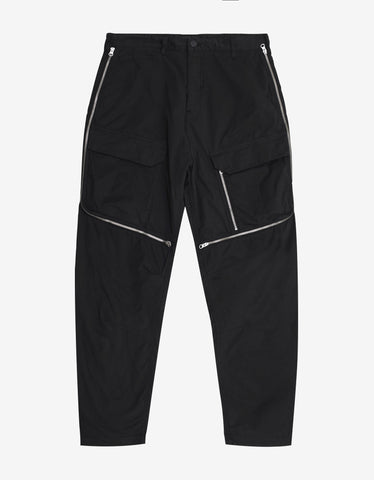Stone Island Shadow Project Black Vented Cargo Pants