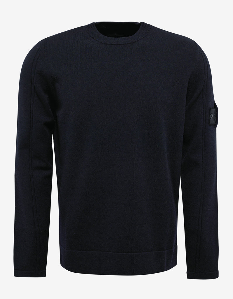 Navy Blue Wool Blend Sweater