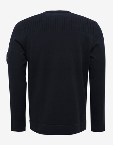 Stone Island Shadow Project Navy Blue Wool Blend Sweater