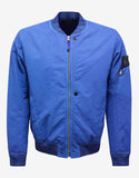 David-TC Blue Over Dyed Bomber Jacket