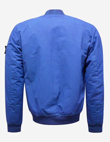 Stone Island Shadow Project David-TC Blue Over Dyed Bomber Jacket