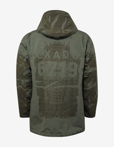 Stone Island Shadow Project David-TC Khaki Contrast Panel Parka