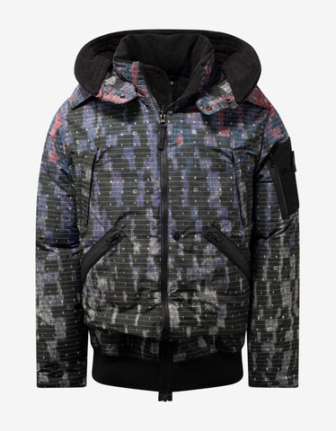Stone Island Shadow Project Graphic Camouflage DPM Chiné Down Jacket