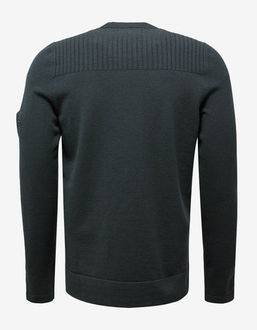 Stone Island Shadow Project Dark Green Wool Blend Sweater