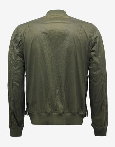Stone Island Shadow Project Lucid Green Nylon Bomber Jacket