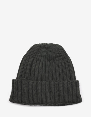 Stone Island Shadow Project Green Ribbed Beanie Hat